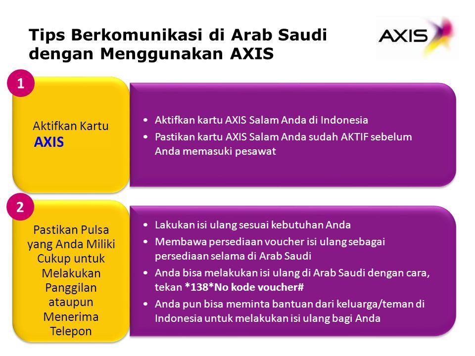 Tips Berkomunikasi di Arab Saudi dengan Menggunakan AXIS 1 2