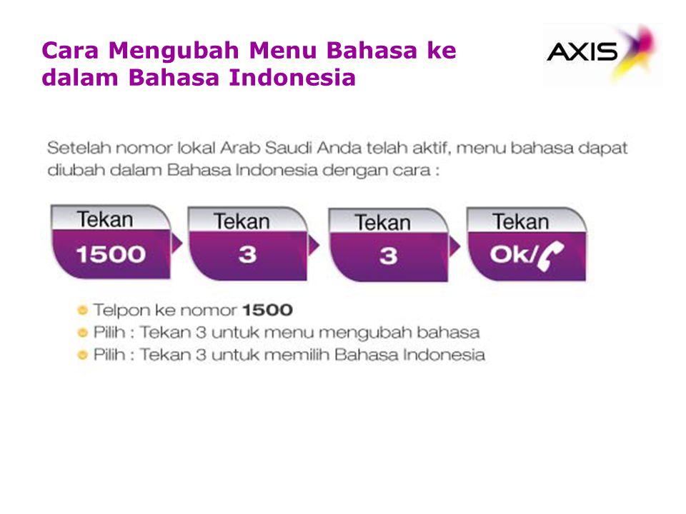 Cara Mengubah Menu Bahasa ke dalam Bahasa Indonesia