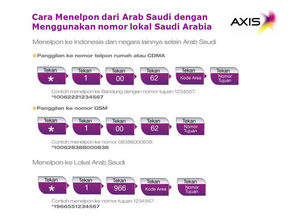 Cara Menelpon dari Arab Saudi dengan Menggunakan nomor lokal Saudi Arabia