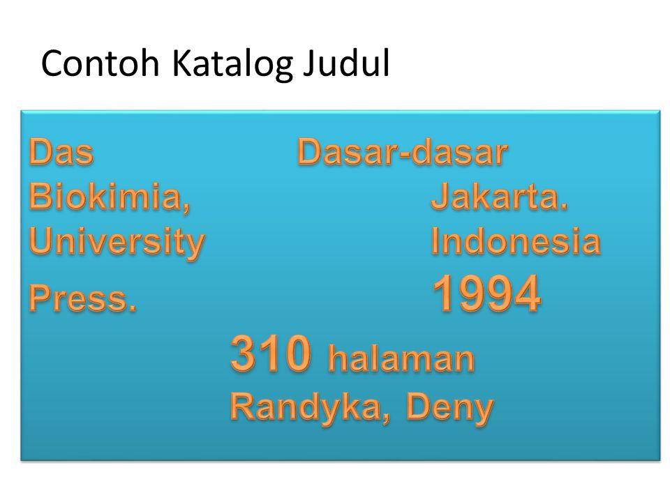Contoh Katalog Judul