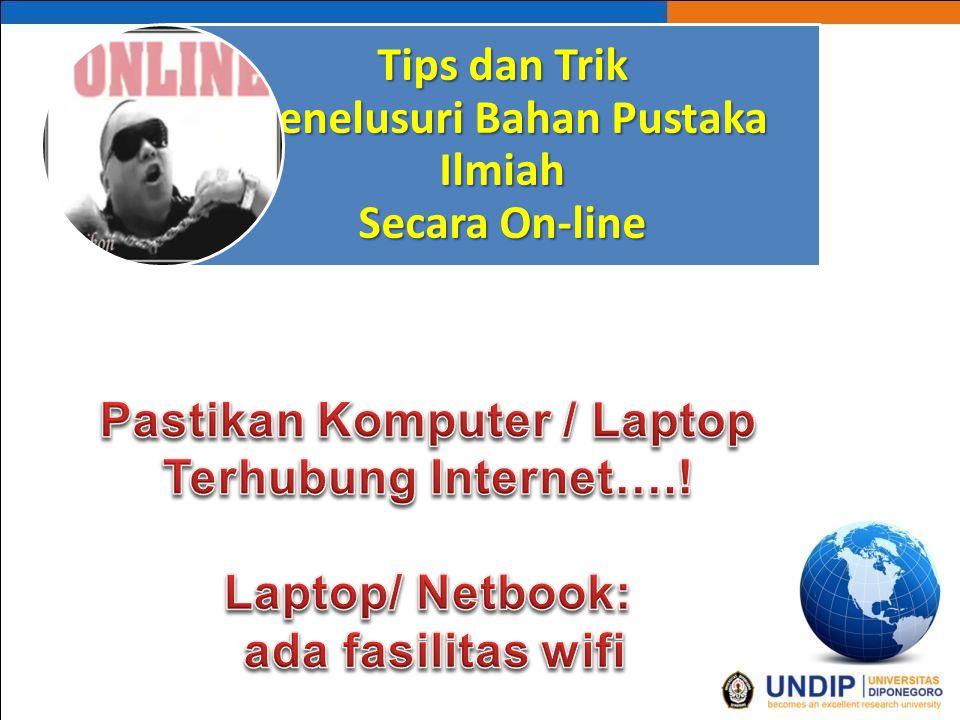 Apakah bisa dengan hp Bisa Bila hp ada fasilitas WLAN / wifi Namun searching dengan Hp tidak sepuas dibanding dengan Laptop/ netbook.