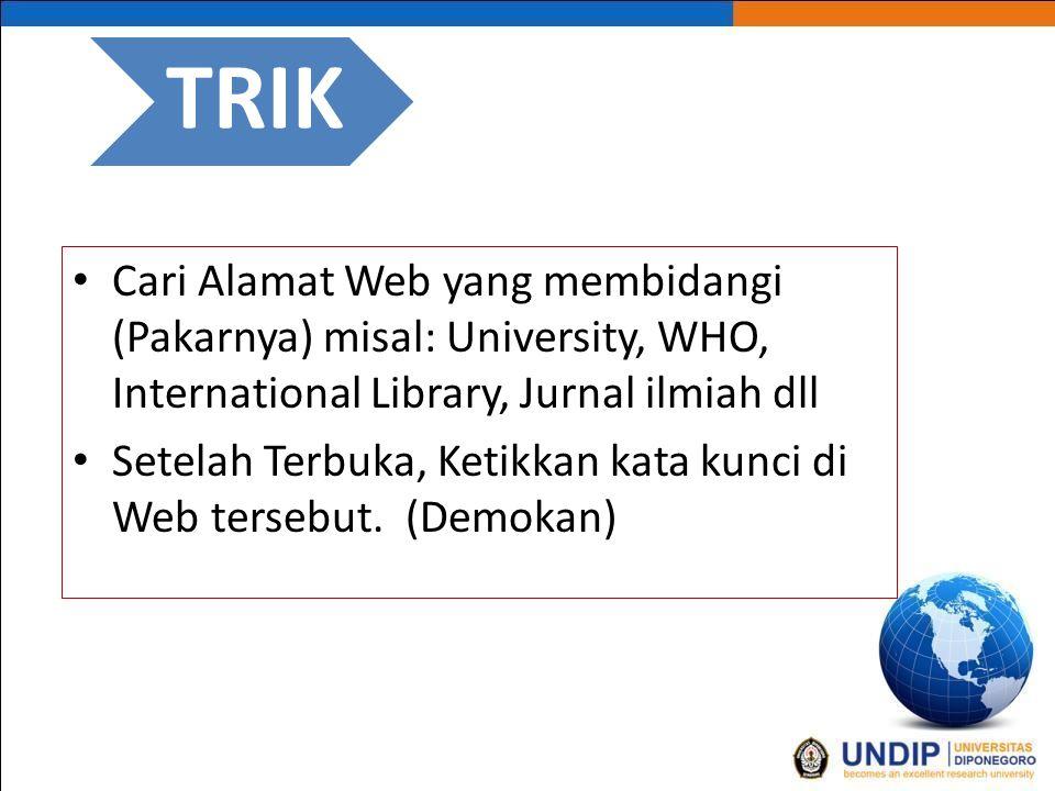 Tips dan Trik http://scholar.google.co.id/  Demokan...