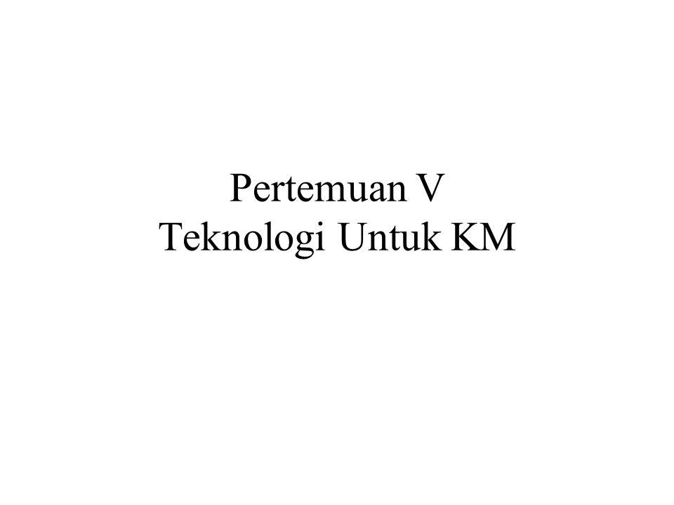 Pertemuan V Teknologi Untuk KM