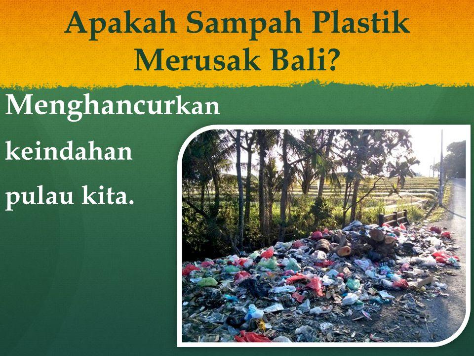 Apakah Sampah Plastik Merusak Bali? Meracuni tanah kita.