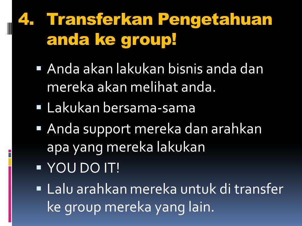 4.Transferkan Pengetahuan anda ke group.