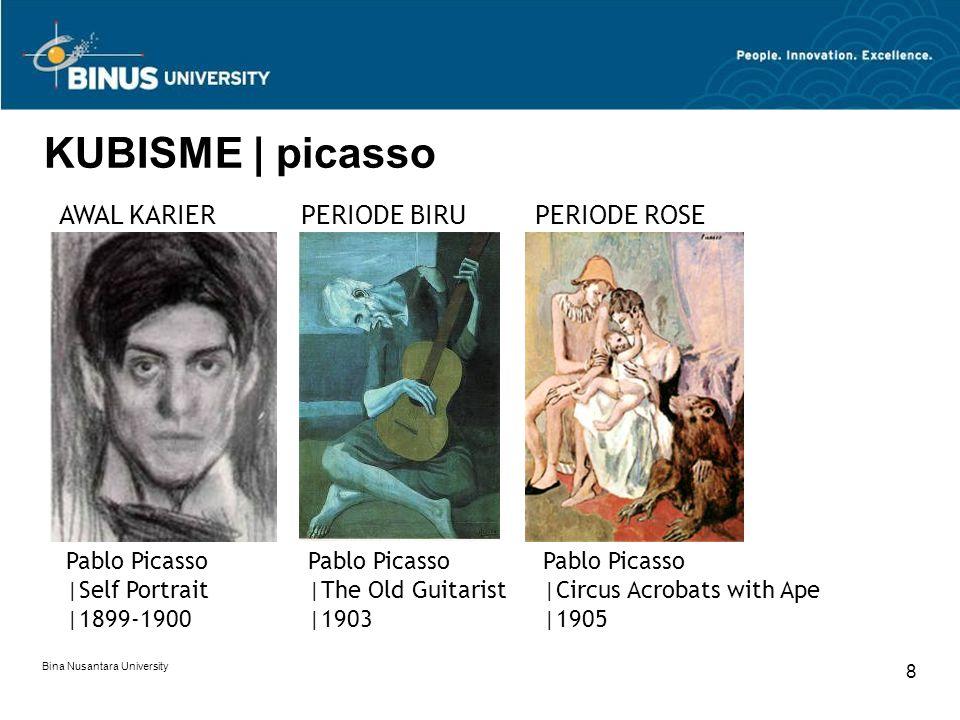 Bina Nusantara University 9 KUBISME | picasso | awal kubis Pablo Picasso |Les Demoiselles D'Avignon |1907