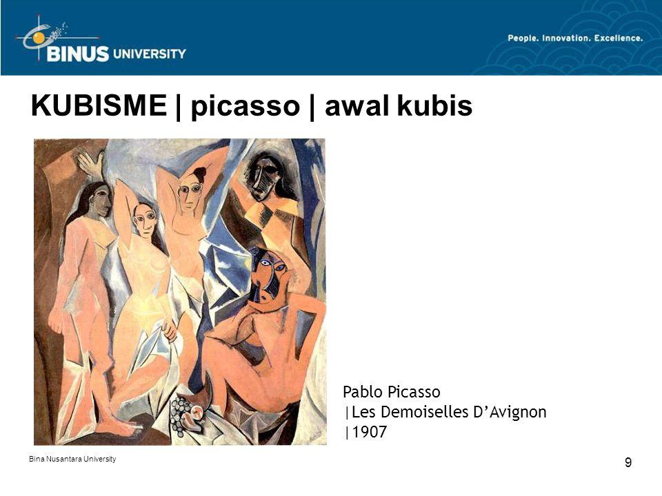 Bina Nusantara University 10 KUBISME | masa perang Pablo Picasso |Guernica |1937