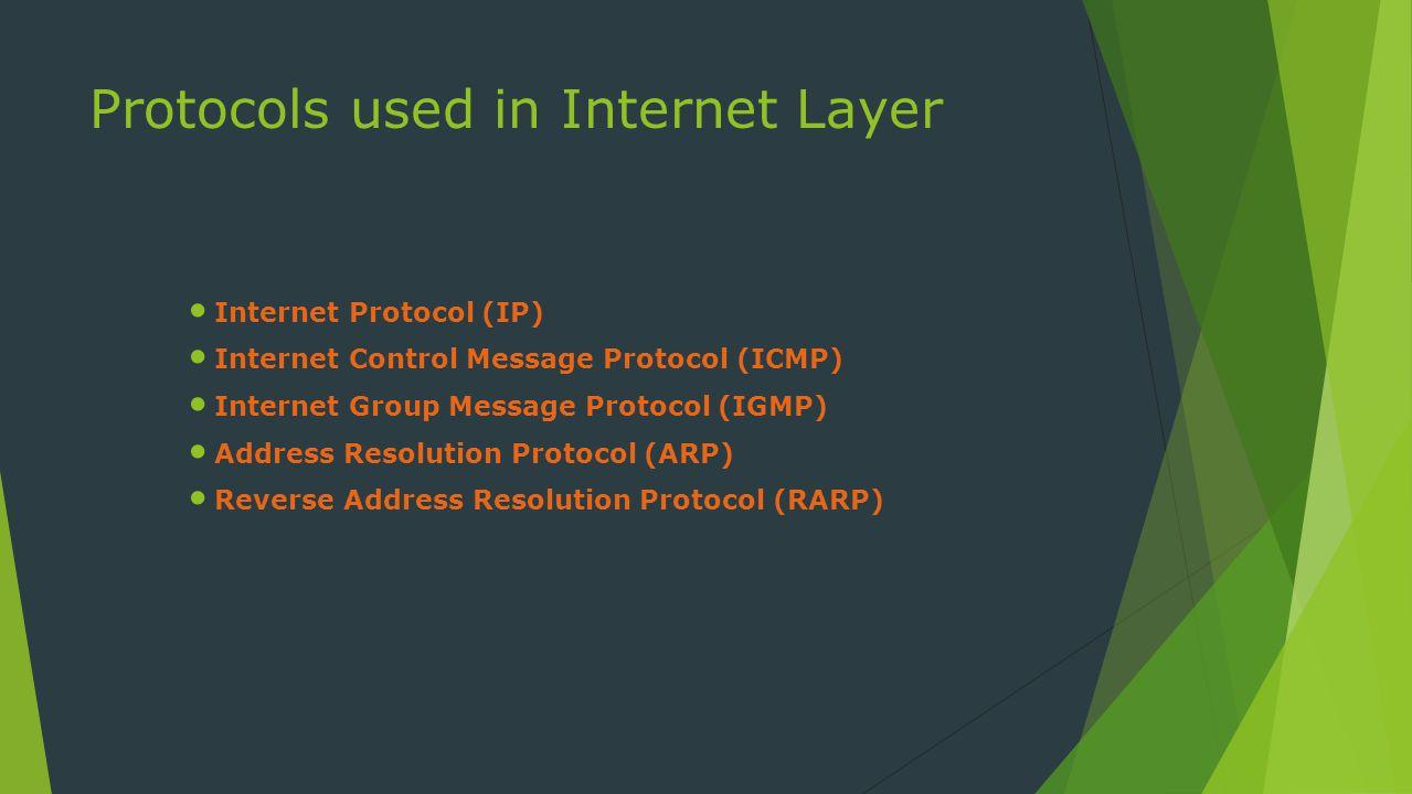 Internet Protocol (IP)  Ini adalah inti dari protokol TCP / IP.