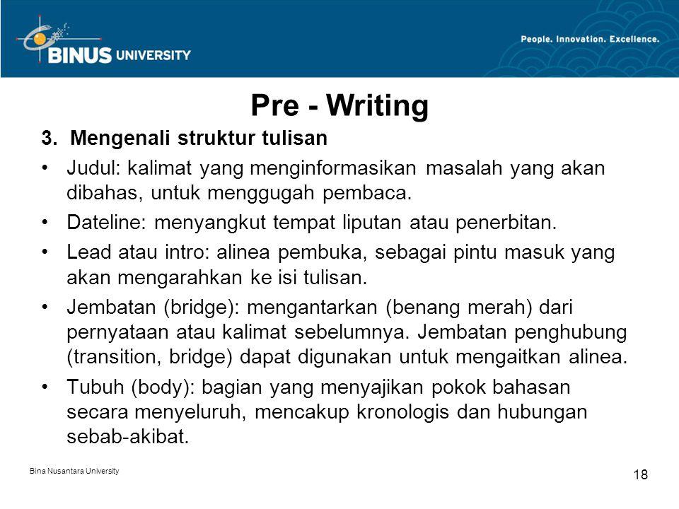 Pre - Writing 3.