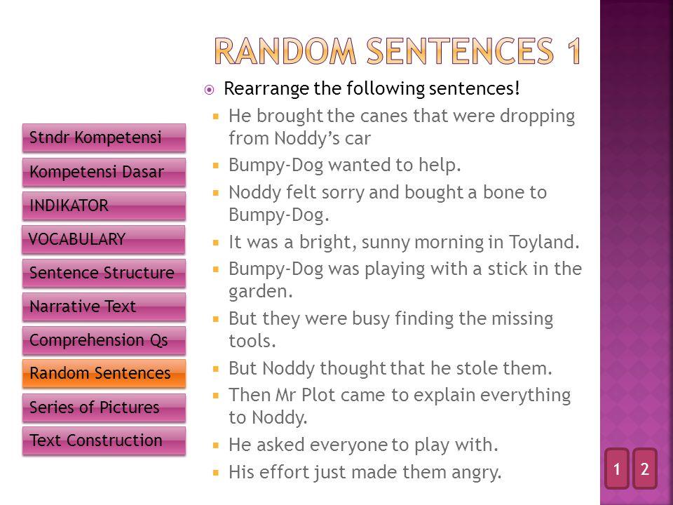  Rearrange the following sentences.
