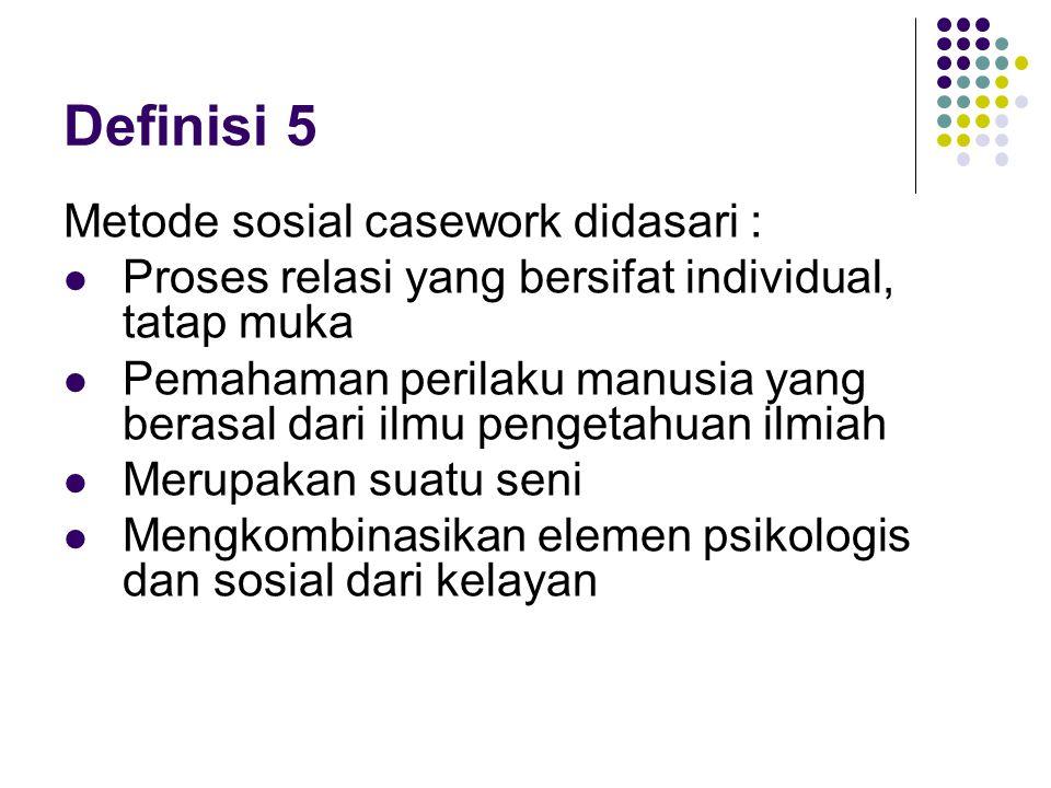 II.KOMPONEN SOSIAL CASEWORK A.