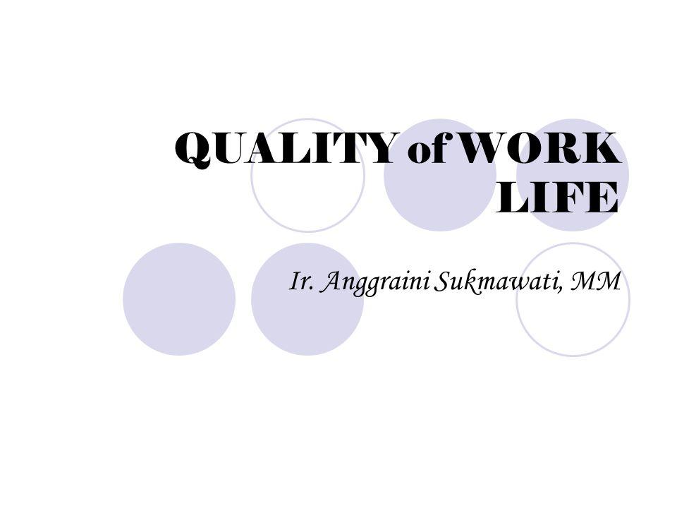 QUALITY of WORK LIFE Ir. Anggraini Sukmawati, MM