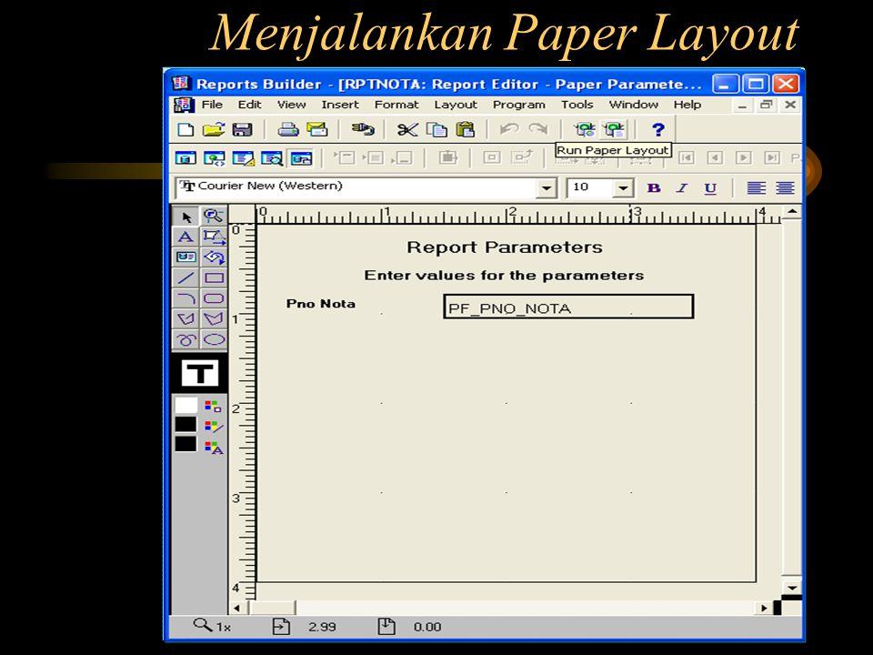 Menjalankan Paper Layout