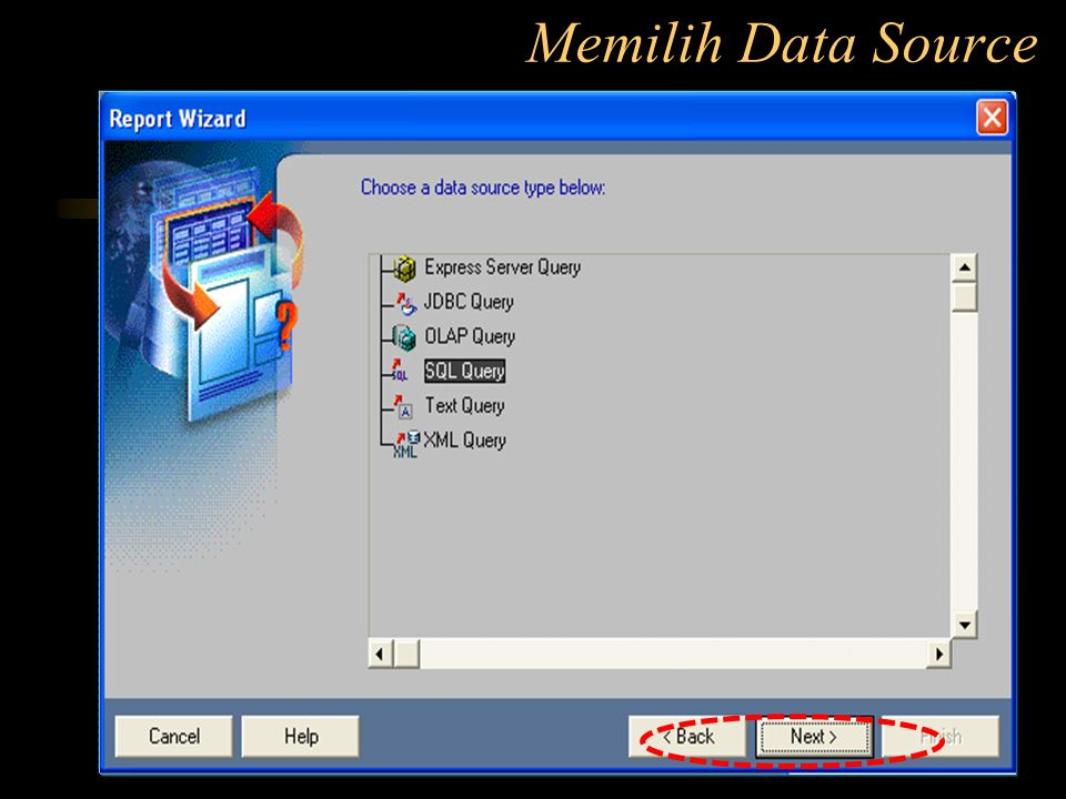 Memilih Data Source