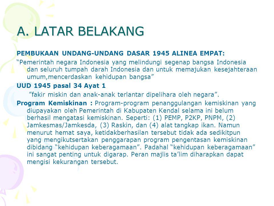 "A. LATAR BELAKANG PEMBUKAAN UNDANG-UNDANG DASAR 1945 ALINEA EMPAT: ""Pemerintah negara Indonesia yang melindungi segenap bangsa Indonesia dan seluruh t"