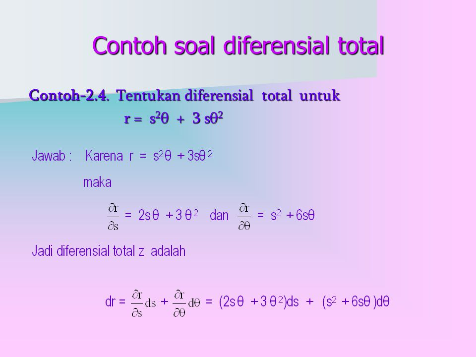 Contoh soal diferensial total Contoh-2.4.