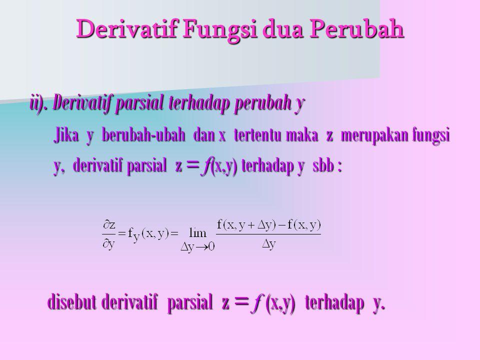 Derivatif Fungsi dua Perubah ii).