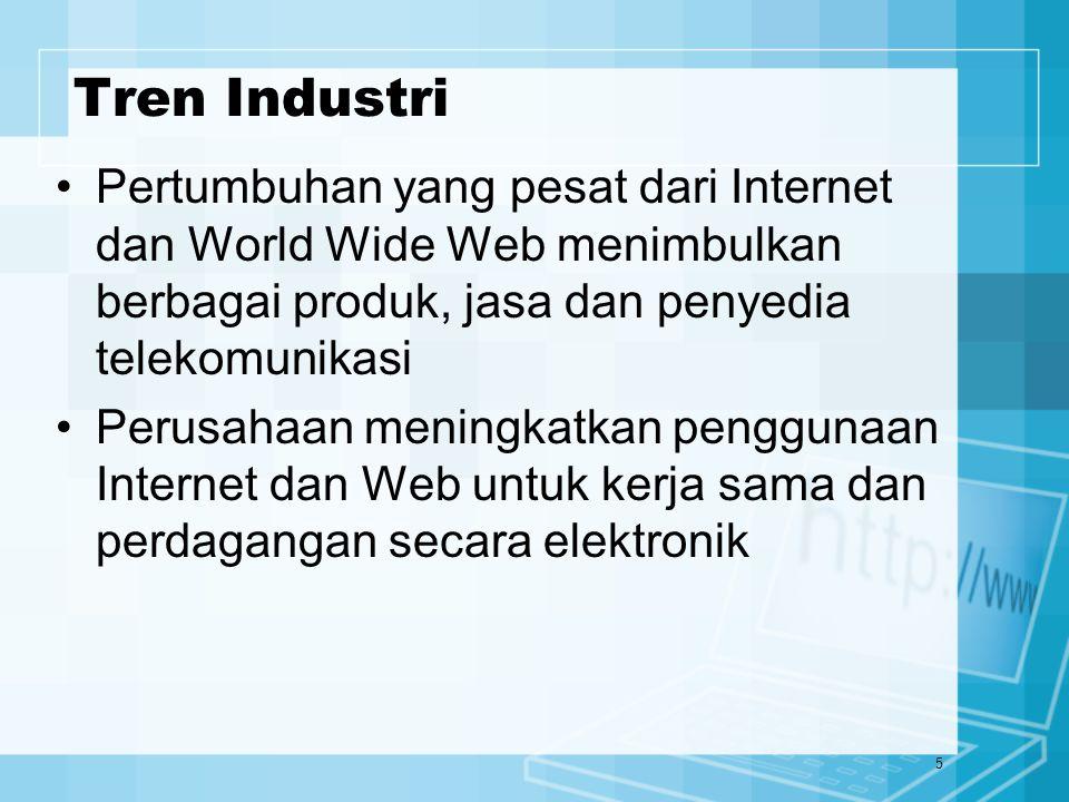16 Ekstranet Ekstranet adalah hubungan jaringan yg menggunakan teknologi internet untuk saling menghubungkan intranet suatu bisnis dengan intranet lainnya Memberikan keamanan yang memadai