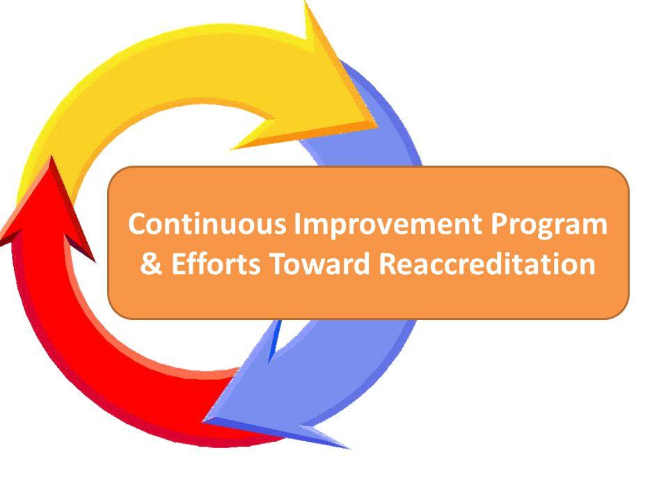 Continuous Improvement Program & Efforts Toward Reaccreditation