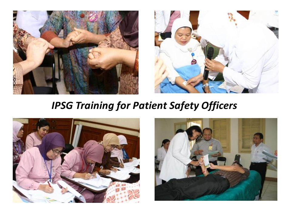 IPSG Training for Patient Safety Officers