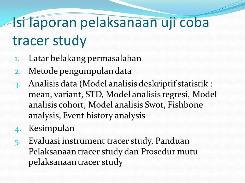Isi laporan pelaksanaan uji coba tracer study 1.Latar belakang permasalahan 2.