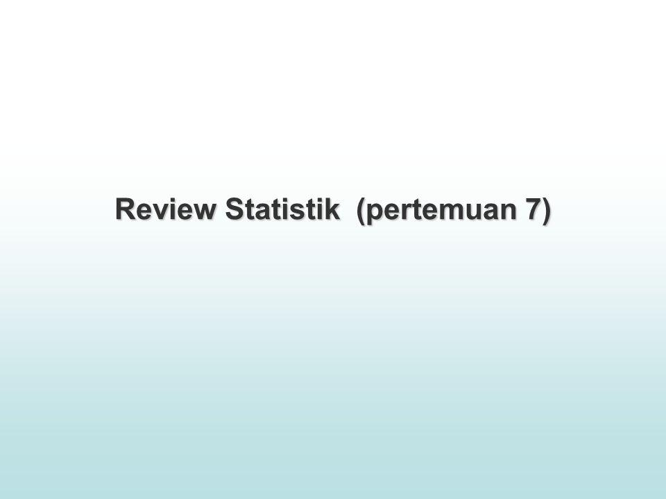 Review Statistik (pertemuan 7)