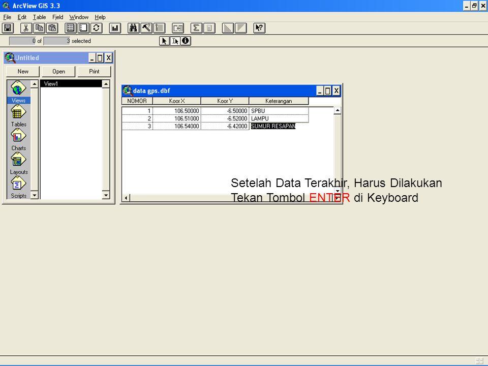 Setelah Data Terakhir, Harus Dilakukan Tekan Tombol ENTER di Keyboard
