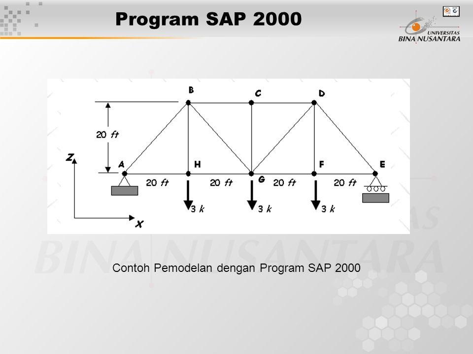 Program SAP 2000 Contoh Pemodelan dengan Program SAP 2000