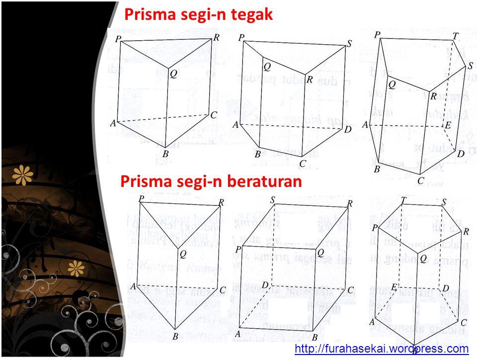 Prisma segi-n tegak Prisma segi-n beraturan http://furahasekai.wordpress.com