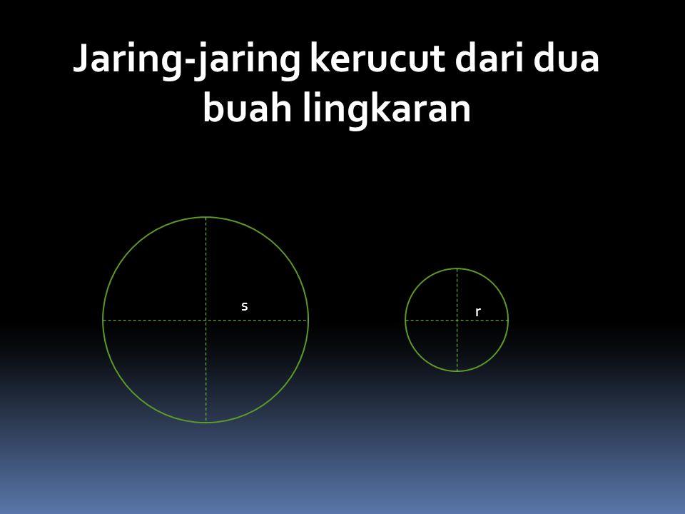s r Jaring-jaring kerucut dari dua buah lingkaran