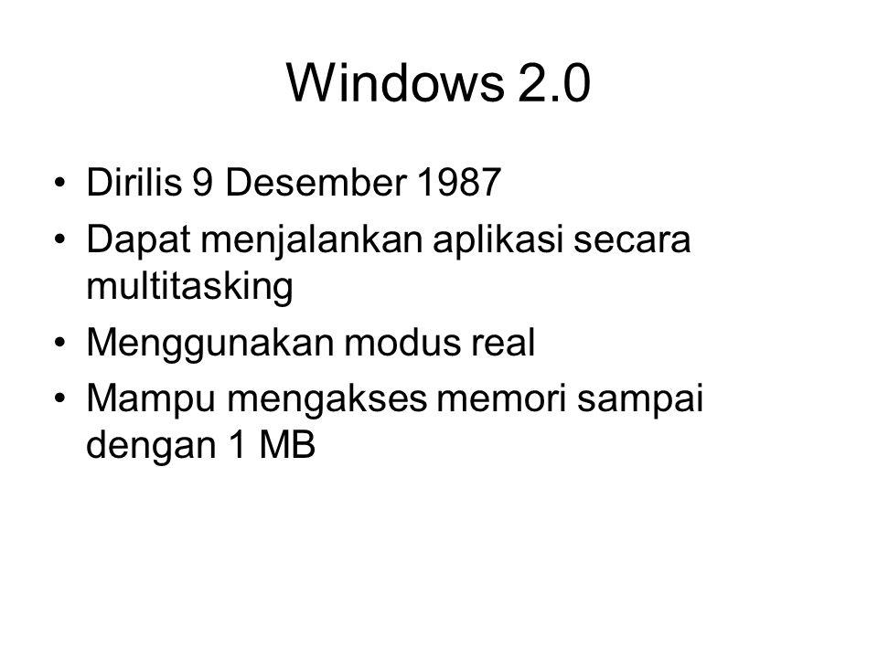 Versi NTFS NTFS versi 1.0 (Windows NT 3.1) NTFS versi 1.1 (Windows NT 3.50) NTFS versi 1.2 (Windows NT 4.0) NTFS versi 2.0 (digagalkan oleh Microsoft) NTFS versi 3.0 (Windows 2000) NTFS versi 3.1 (Windows XP SP1 dan Widows Server 2003)