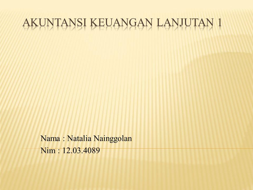 Nama : Natalia Nainggolan Nim : 12.03.4089