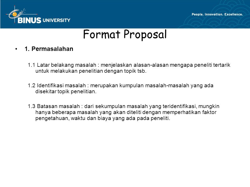 Format Proposal 1.