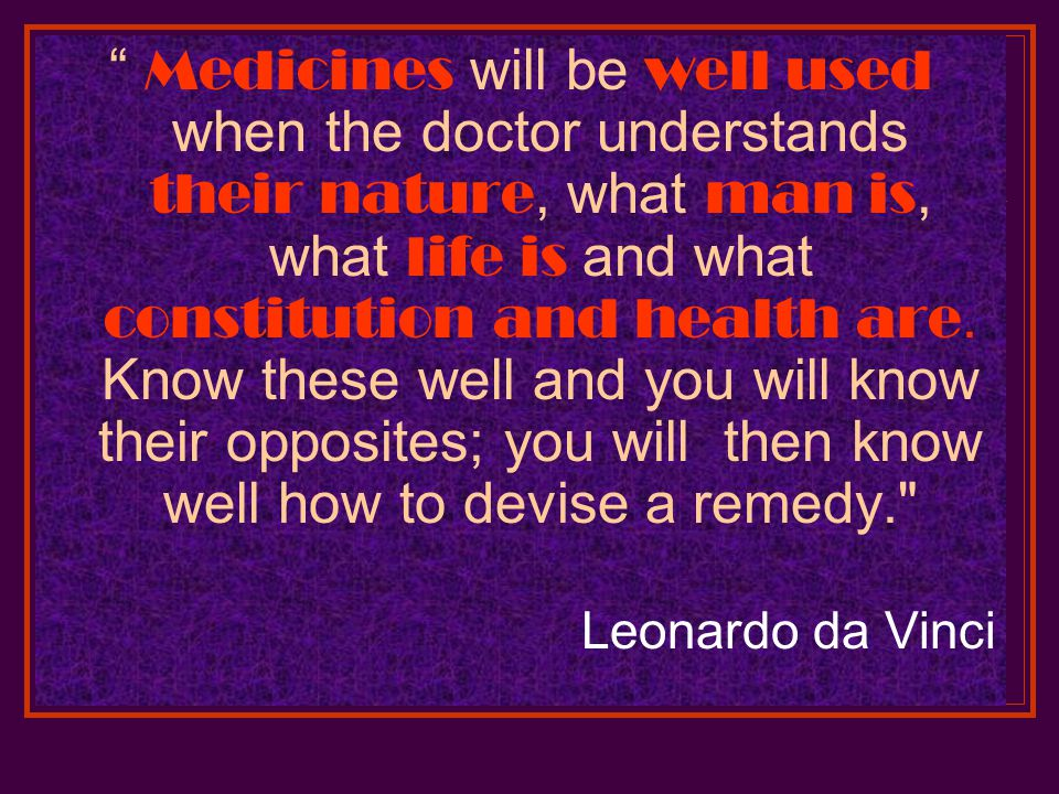A Knowledge Of The Specific Element In Disease Is The Key Of Medicine.