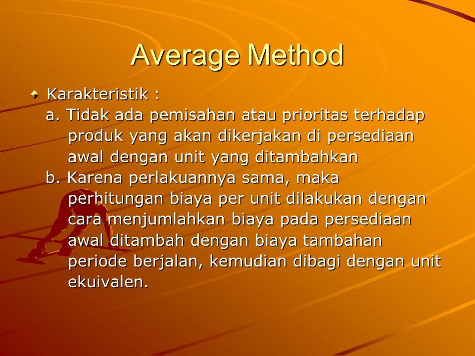 Average Method Karakteristik : a.Tidak ada pemisahan atau prioritas terhadap a.