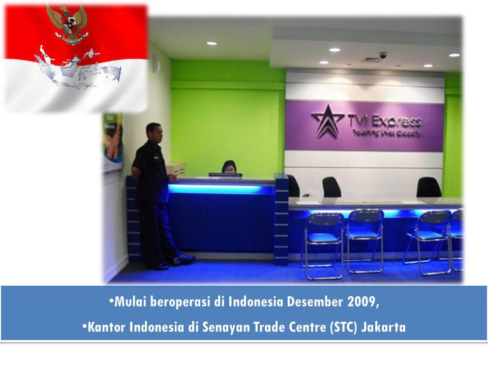 Mulai beroperasi di Indonesia Desember 2009, Kantor Indonesia di Senayan Trade Centre (STC) Jakarta Mulai beroperasi di Indonesia Desember 2009, Kanto