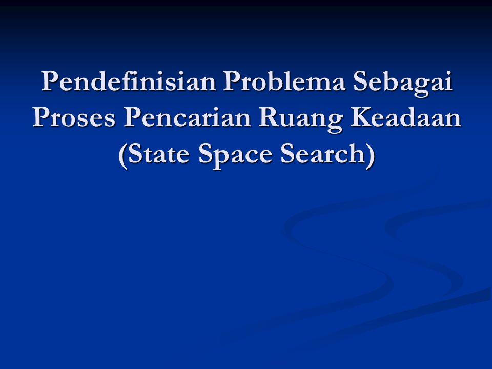 Proses Pencarian Heuristik Heuristik merupakan strategi untuk melakukan proses pencarian ruang problema secara selektif, yang memandu proses pencarian di sepanjang jalur yang memiliki kemungkinan sukses paling besar, dan mengesampingkan usaha yang bodoh dan memboroskan waktu.