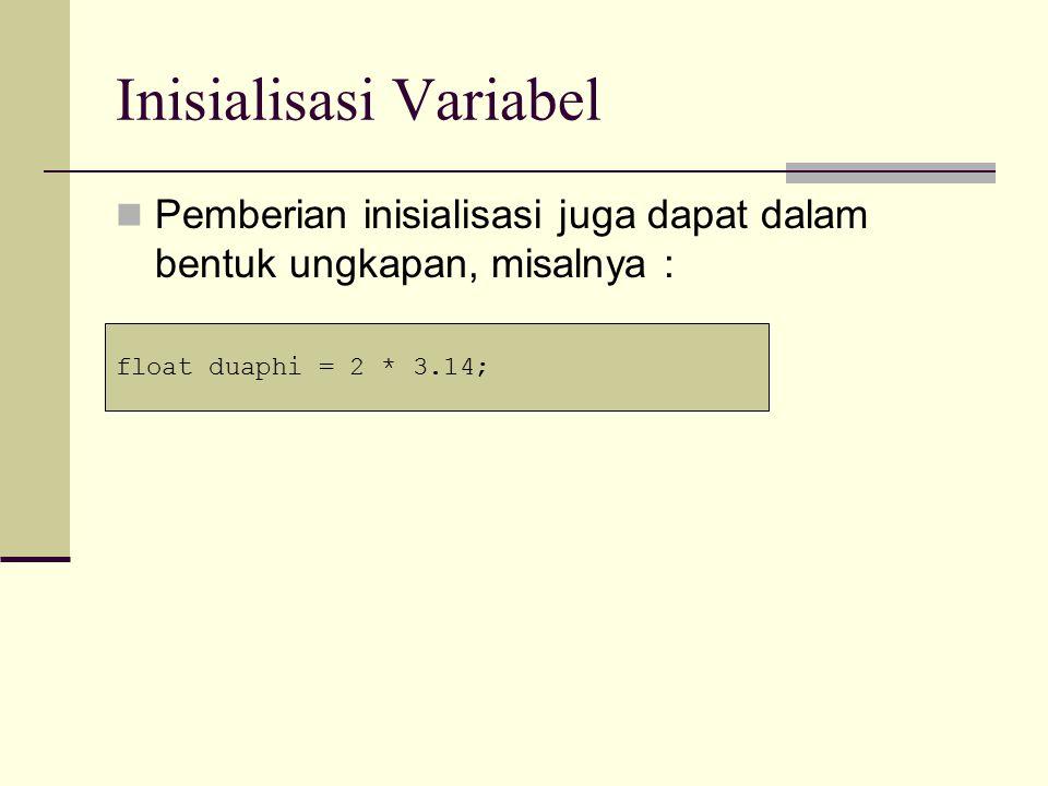 Pendefinisian Variabel Bisa Dimana Saja Pada C++, pendefinisian variabel bisa dimana saja.