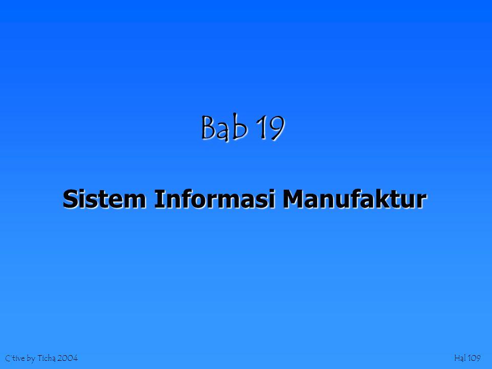 C'tive by Ticha 2004Hal 109 Bab 19 Sistem Informasi Manufaktur