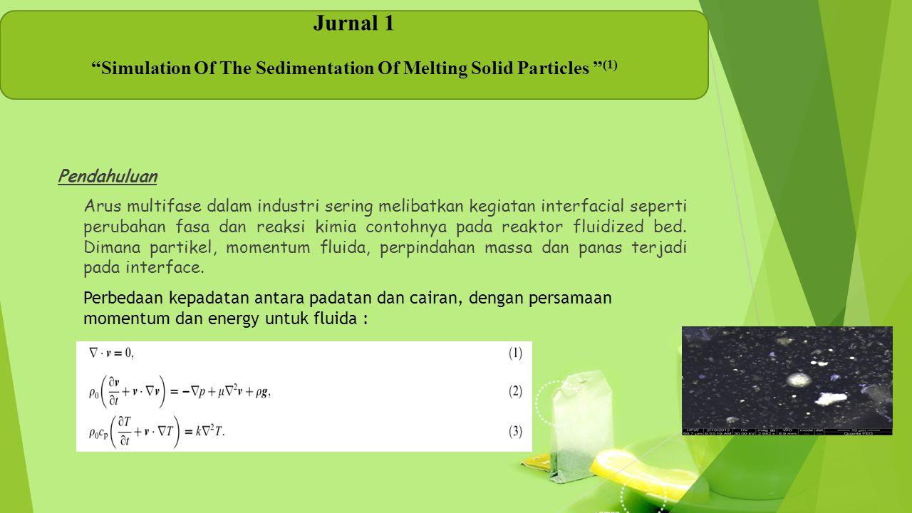 Pendahuluan Arus multifase dalam industri sering melibatkan kegiatan interfacial seperti perubahan fasa dan reaksi kimia contohnya pada reaktor fluidi