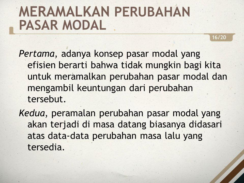 1.Perubahan Siklis Ekonomi.