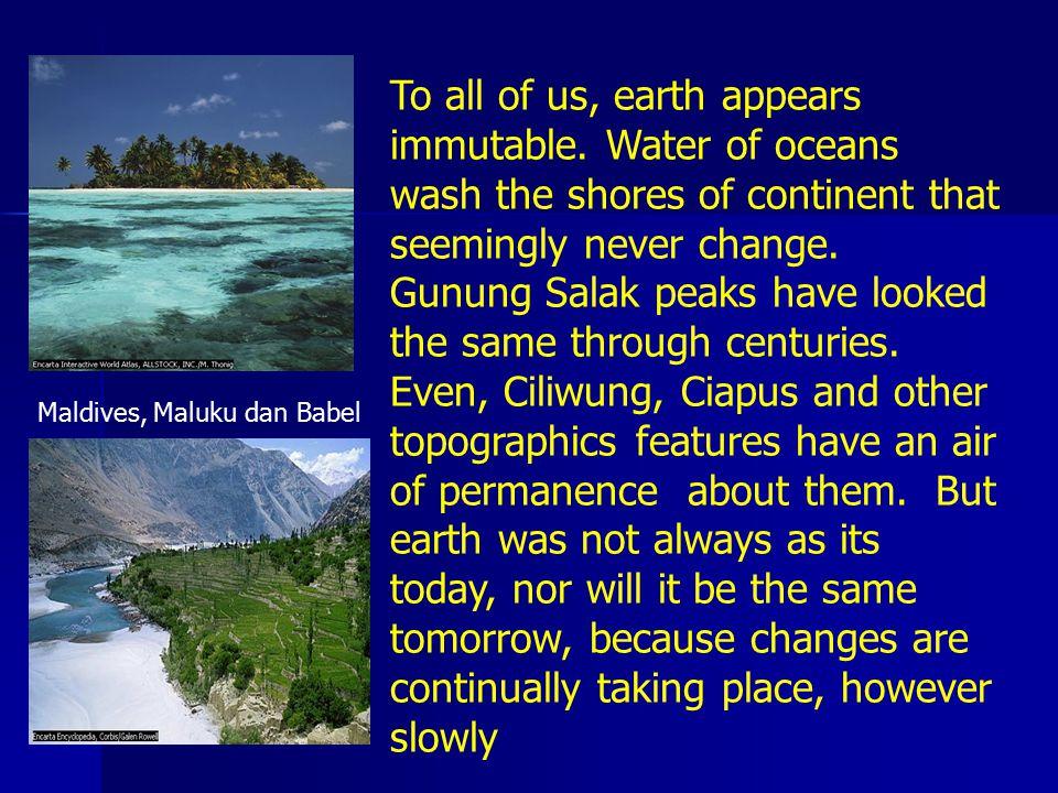 Faktor lingkungan selalu berubah As environmental condition slowly changed, organism responded, adjusting new set of conditions …………….