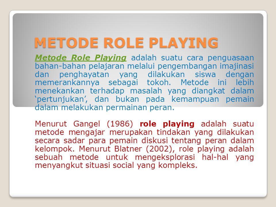 Langkah-langkah Metode Role Playing: 1.