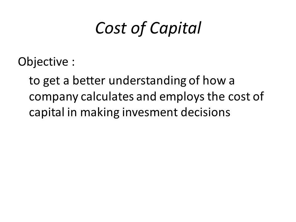 Cost of Capital (biaya modal) Short term debt Cost of debt (kd) Long term debt COC Preferred stock Common stock Cost of Equity (Ke) New common stock Retained earning