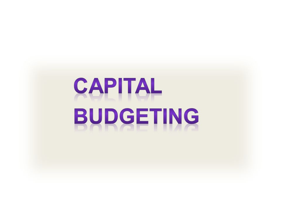 What Is Capital Budgeting  Capital budgeting involves the decision making process with respect to investment in fixed assets; specifically, it involves measuring the incremental cash flows associated with investment proposals and evaluating the attractiveness of these cash flows relative to the project's costs  Capital budgeting is decision process that managers use to identify those projects that add to the firm's value, and as such it is perhaps the most important task faced by financial managers and their staffs.