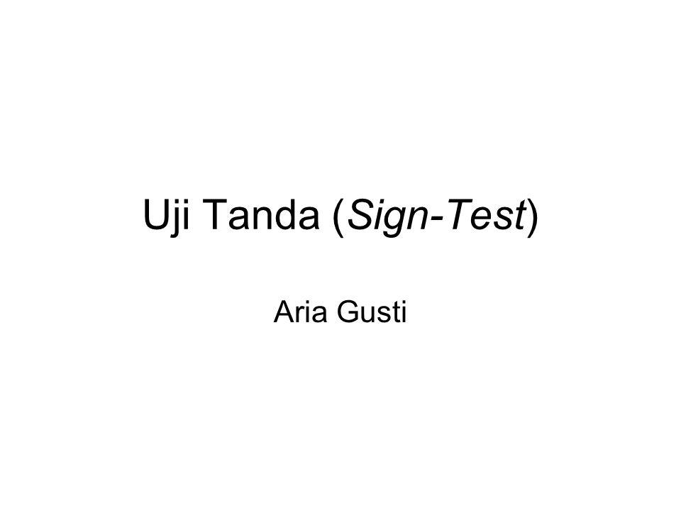 Uji Tanda (Sign-Test) Aria Gusti