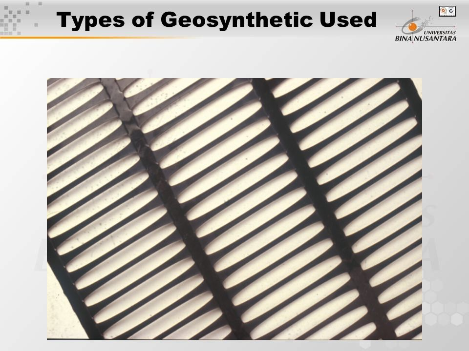 Types of Geosynthetic Used