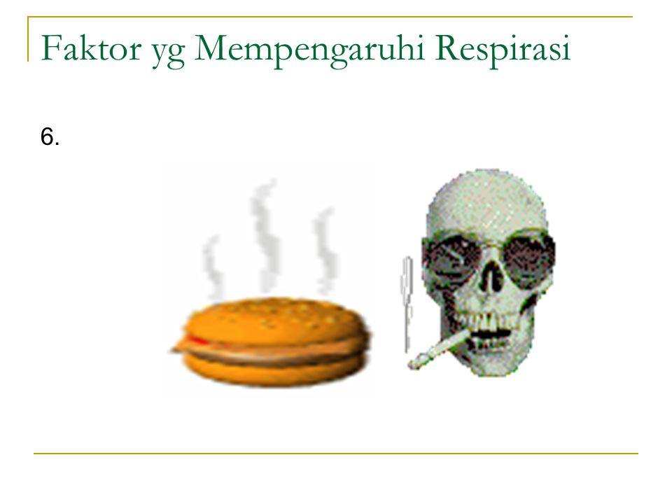 Faktor yg Mempengaruhi Respirasi 6.