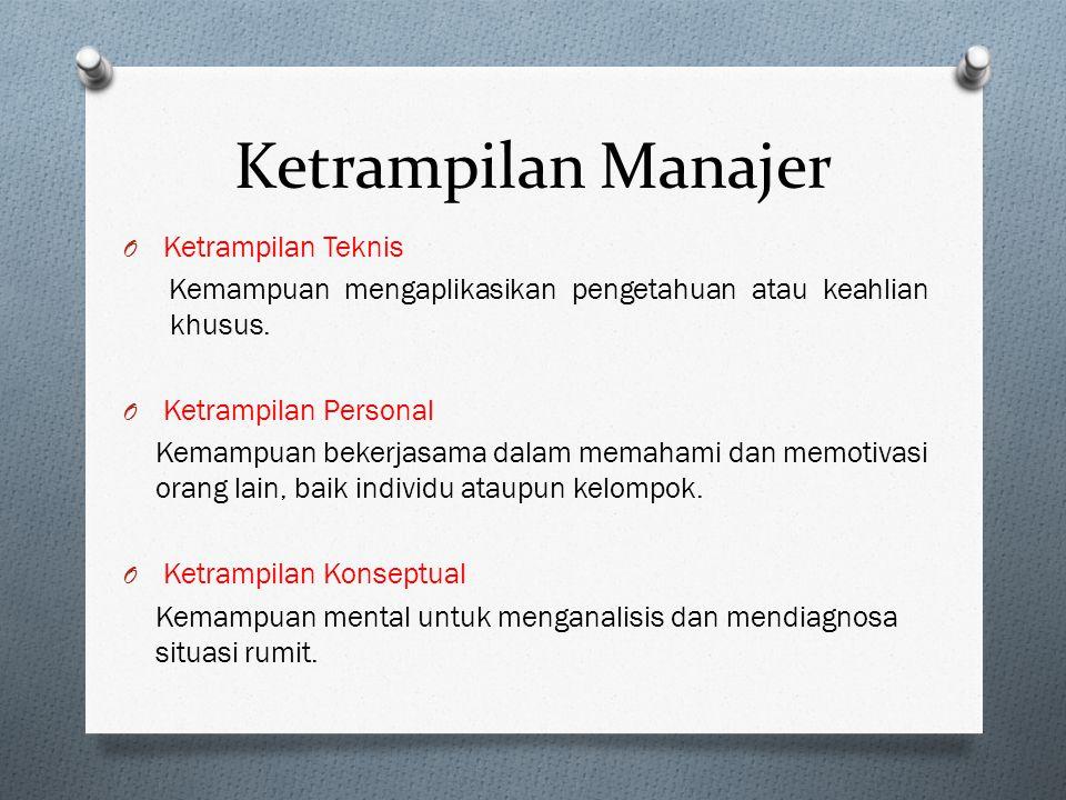 O Setiap organisasi pasti memiliki manajer. O Manajer adalah orang yang berada dalam organisasi dan menyelesaikan pekerjaannya melalui orang lain. Pen