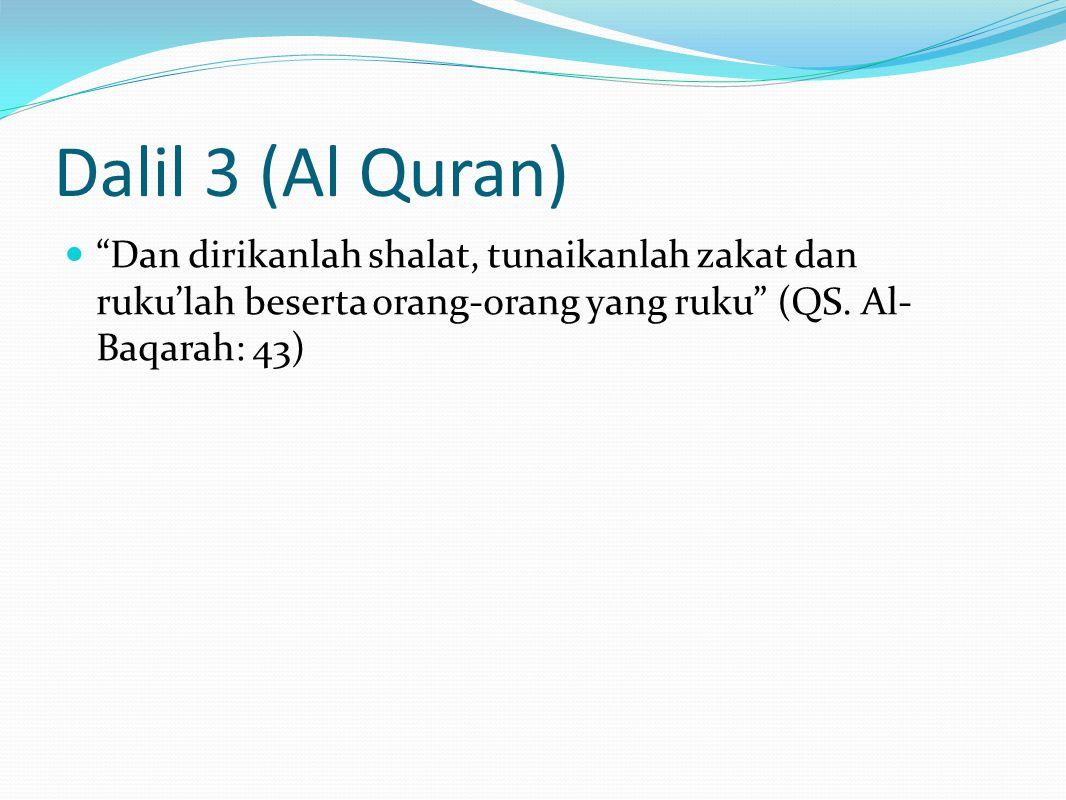 Dalil 12 (Ijma Para Sahabat r.a) Waki' berkata, Syu'bah telah menceritakan kepada kami, dari 'Adi bin Tsabit, dari Sa'id bin Jabir, dari Ibnu Abbas, dia berkata, Barangsiapa yang mendengar panggilan shalat (adzan), kemudian dia tidak memenuhi panggilan tersebut tanpa adanya alasan syar'i, maka tidak ada shalat baginya. (Ibnu Majah 793, Ibnu Hibban 2064, Ad-Daruquthni 1/420, dan Al-Baihaqi 3/57).